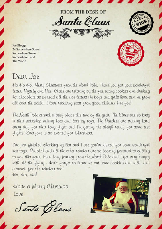 Letter design A with Ho,Ho,Ho text
