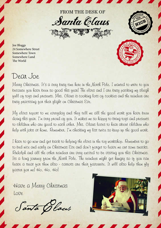 Letter Design A with Merry Christmas text