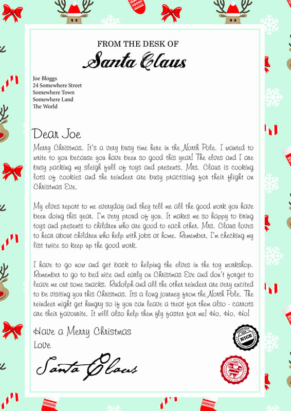 Letter Design C with Merry Christmas text