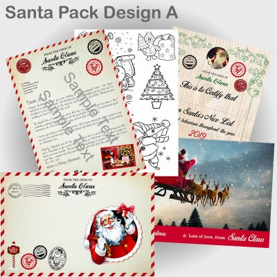 Santa Pack with Letter design A