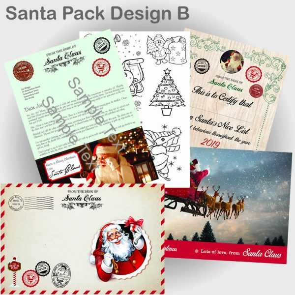 Santa Pack with letter design B