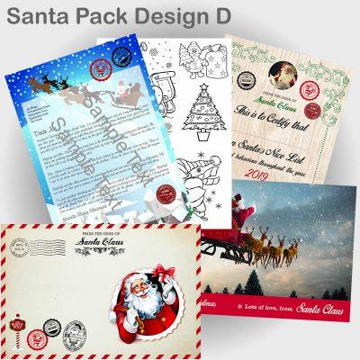Santa Pack letter design D 2019