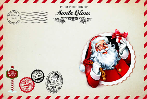 Custom Santa Envelope