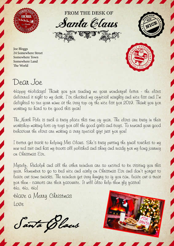 Letter disign A with Happy Holidays text