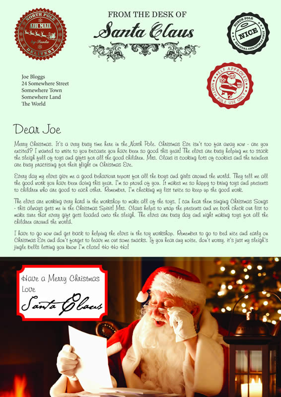 Design B Letter text Merry Christmas