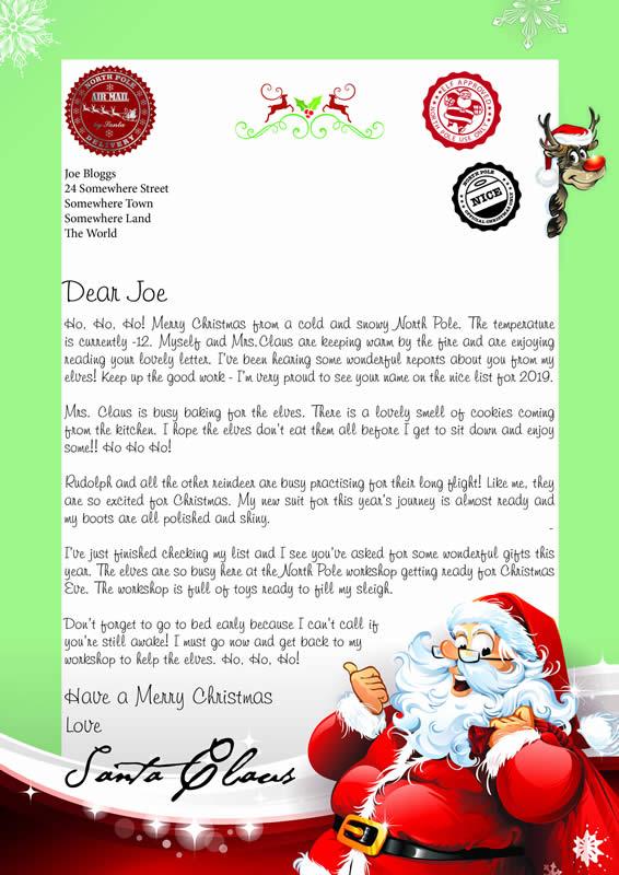 Design C Letter text Ho Ho Ho